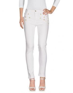 Джинсовые брюки LUCKY LU Milano. Цвет: белый
