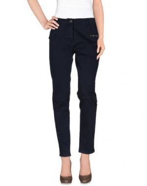 Повседневные брюки PRIVE' ITALIA. Цвет: темно-синий