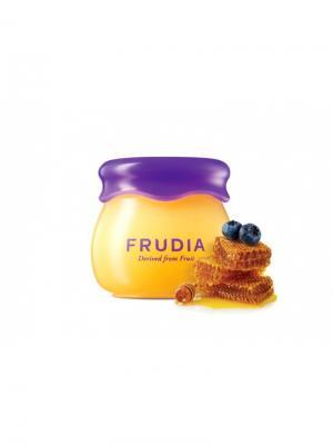 Увлажняющий бальзам для губ с черникой и медом FRUDIA. Цвет: кремовый