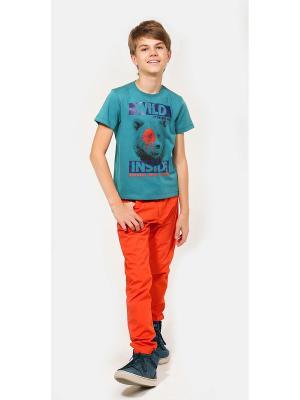 Брюки Gino de Luka. Цвет: оранжевый