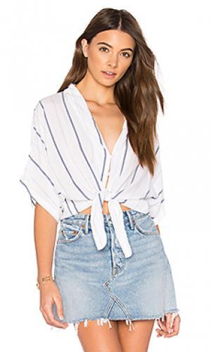 Рубашка на пуговицах с завязкой спереди thea Rails. Цвет: белый