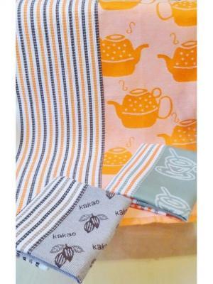 Набор вафельных полотенец ЧАЙНЫЙ МИКС  (2х3 шт) 40*60 TOALLA. Цвет: желтый