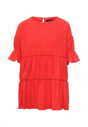 Блуза LOST INK. Цвет: красный