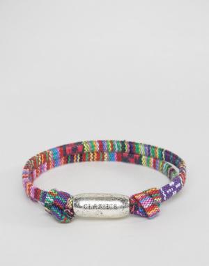 Classics 77 Плетеный браслет с ацтекским принтом. Цвет: мульти