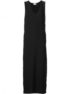 Платье без рукавов Sam & Lavi. Цвет: чёрный