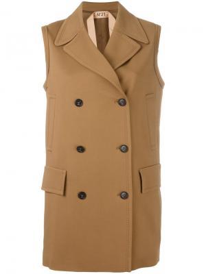 Пальто без рукавов Nº21. Цвет: коричневый