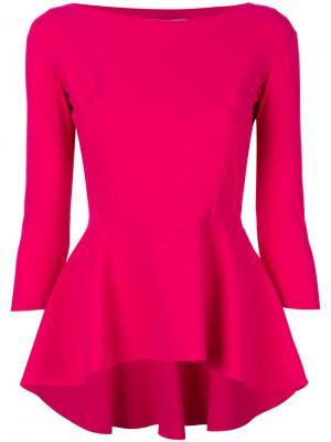 Блузка с баской Chiara Boni La Petite Robe. Цвет: розовый и фиолетовый