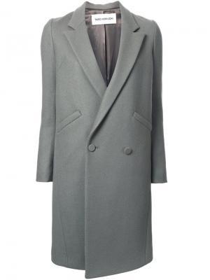 Двубортное пальто Taro Horiuchi. Цвет: зелёный