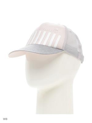 Бейсболка SC CAP PRINT  ECHPIN|MGR Adidas. Цвет: серый, белый