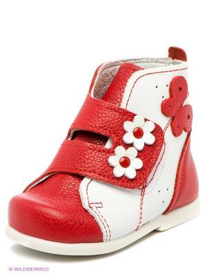 Ботинки Детский скороход. Цвет: красный, белый