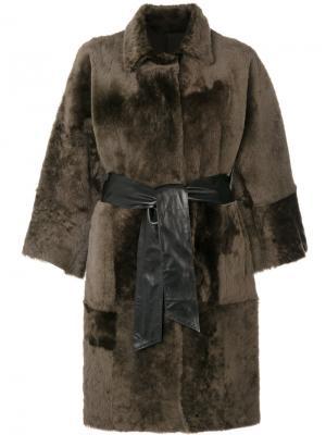 Двухстороннее свободное пальто Drome. Цвет: зелёный