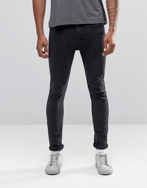 LDN DNM Выбеленные джинсы скинни. Цвет: темно-синий