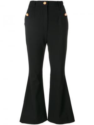 Расклешенные укороченные брюки Dolce & Gabbana. Цвет: чёрный