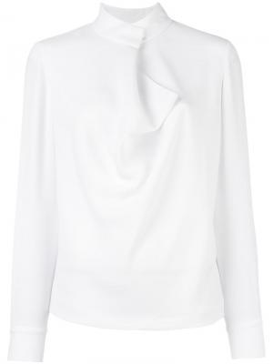 Блузка с запахом Elizabeth And James. Цвет: белый