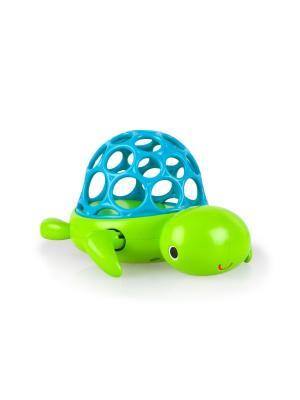 Игрушка для ванны Черепашка Oball. Цвет: голубой, салатовый