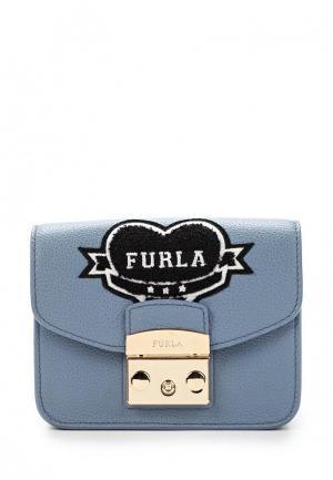 Сумка Furla. Цвет: голубой