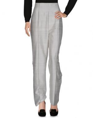 Повседневные брюки JIKI. Цвет: светло-серый