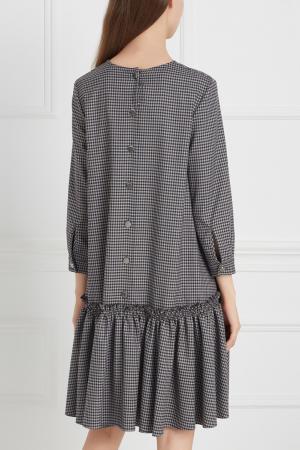 Платье в клетку ARnouveau. Цвет: серый