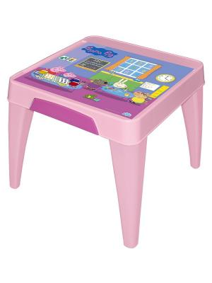 Детский стол Я расту  Свинка Пеппа розовый Little Angel. Цвет: розовый