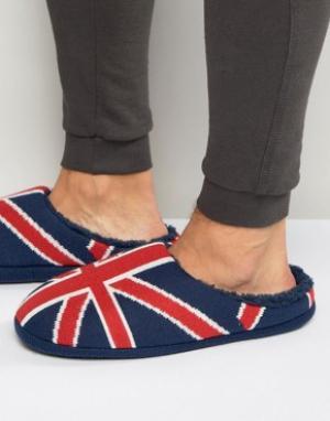 Dunlop Тапочки с британским флагом. Цвет: синий