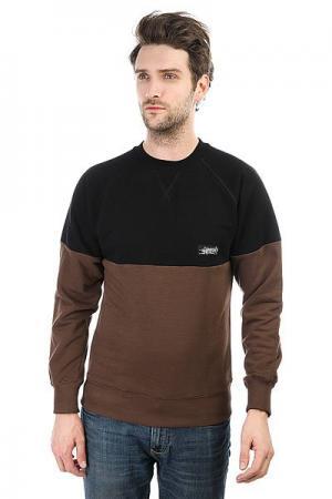 Толстовка свитшот  Cr Combo Brown Light Anteater. Цвет: черный,коричневый