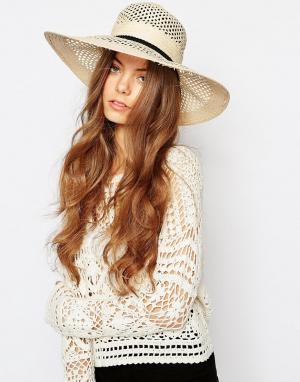 Becksondergaard Широкополая шляпа Hawa. Цвет: бежевый