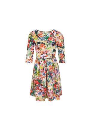 Платье из трикотажного полотна с рукавами COCOS