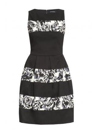 Платье из хлопка 167855 Paola Morena. Цвет: черный