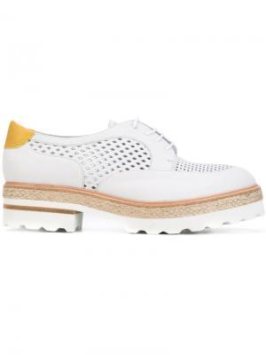 Туфли с наборной подошвой Fratelli Rossetti. Цвет: серый