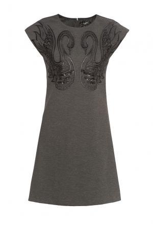 Платье из вискозы в пайетках и стразах 180484 Cristina Effe. Цвет: серый