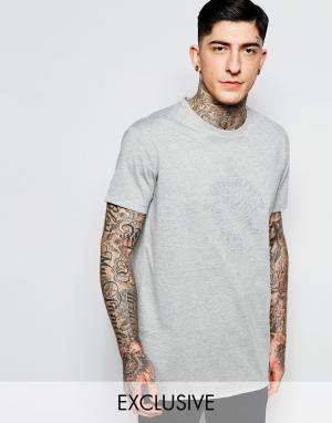 Brooklyn Supply Co. Серая футболка с изнаночным принтом Co Coney Island Be. Цвет: серый