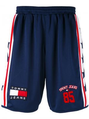 Сетчатые спортивные шорты Tommy Jeans. Цвет: синий