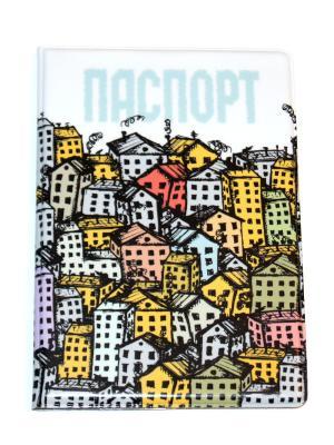 Обложка на паспорт Lola. Цвет: желтый, голубой