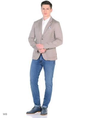 Пиджак United Colors of Benetton. Цвет: серый, белый