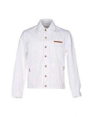 Джинсовая верхняя одежда UMIT BENAN. Цвет: белый