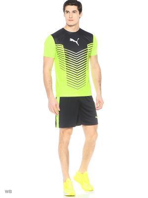 Футболка ftblTRG Graphic Shirt Puma. Цвет: салатовый