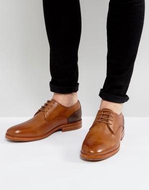 Hudson London Кожаные светло-коричневые дерби H Enrico. Цвет: рыжий