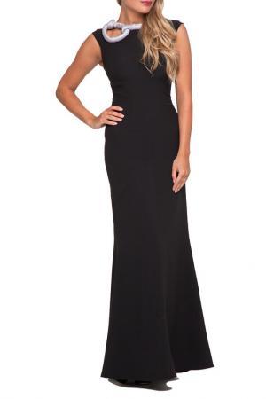 Платье Gloss. Цвет: черный, серебристо-серый