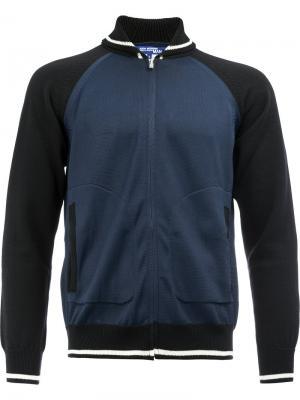 Куртка-бомбер с вышитым орлом Junya Watanabe Comme Des Garçons Man. Цвет: синий