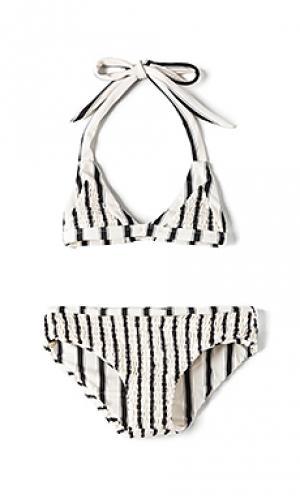 Комплект бикини olivia Tori Praver Swimwear. Цвет: белый