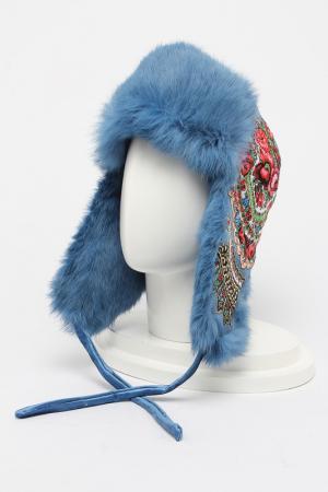 Шапка-ушанка ROMAX. Цвет: голубой