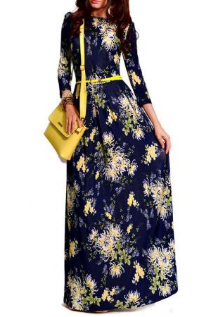 Платье FRANCESCA LUCINI. Цвет: желтые цветы