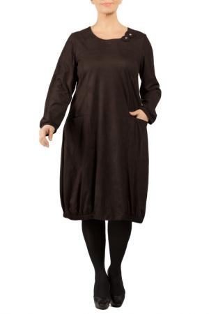 Платье Zedd Plus. Цвет: black