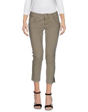 Джинсовые брюки-капри HEAVY PROJECT. Цвет: серый