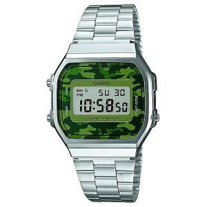 Часы  Collection A-168wec-1e Greu/Green Casio. Цвет: серый,зеленый