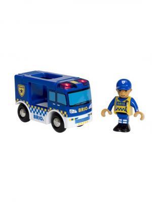 Фургон Полиция,2 эл.,свет,19х5х10см,кор. BRIO. Цвет: прозрачный