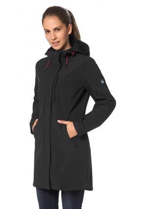 Короткое пальто POLARINO. Цвет: черный
