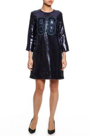 Платье TWIN-SET JEANS. Цвет: фиолетовый
