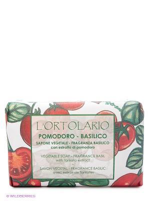 Натуральное мыло с ароматом базилика и экстрактом помидора, 150 гр Iteritalia. Цвет: красный