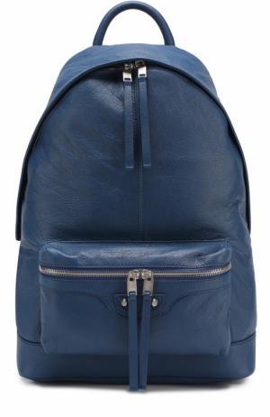 Кожаный рюкзак Classic Balenciaga. Цвет: синий